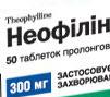Неофилин – отзывы по препарату, инструкция по применению